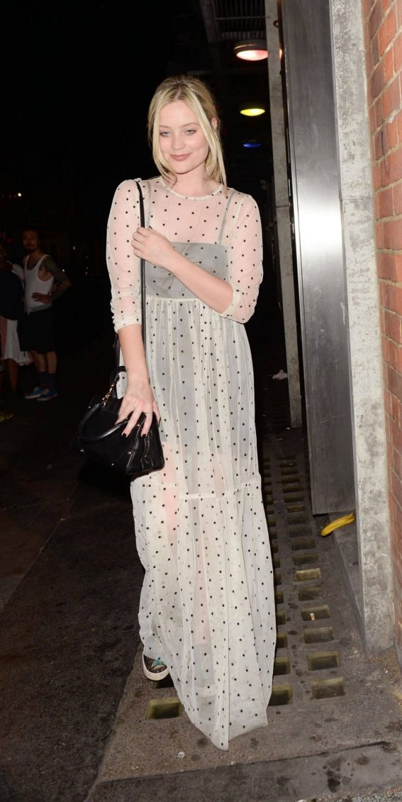 Laura Whitmore Leaves Soho Theatre in London 2018/07/24 1