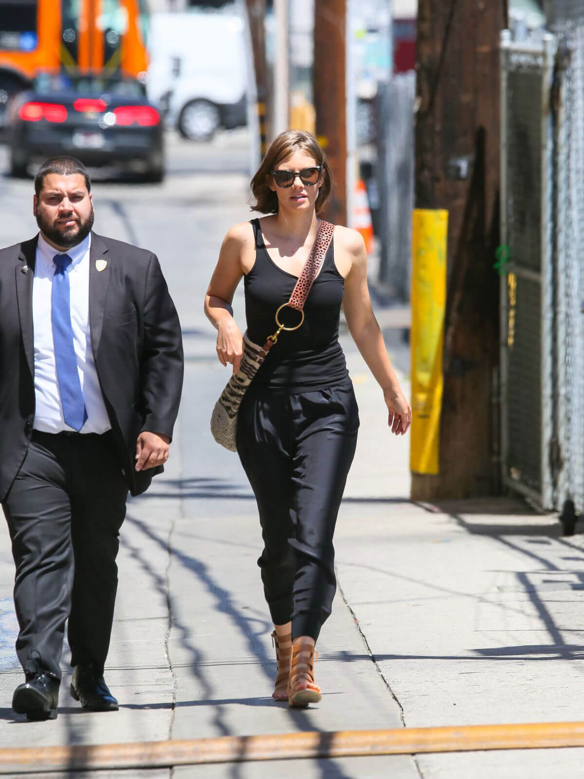 Lauren Cohan Arrives at Jimmy Kimmel Live in Los Angeles 2018/07/23 1