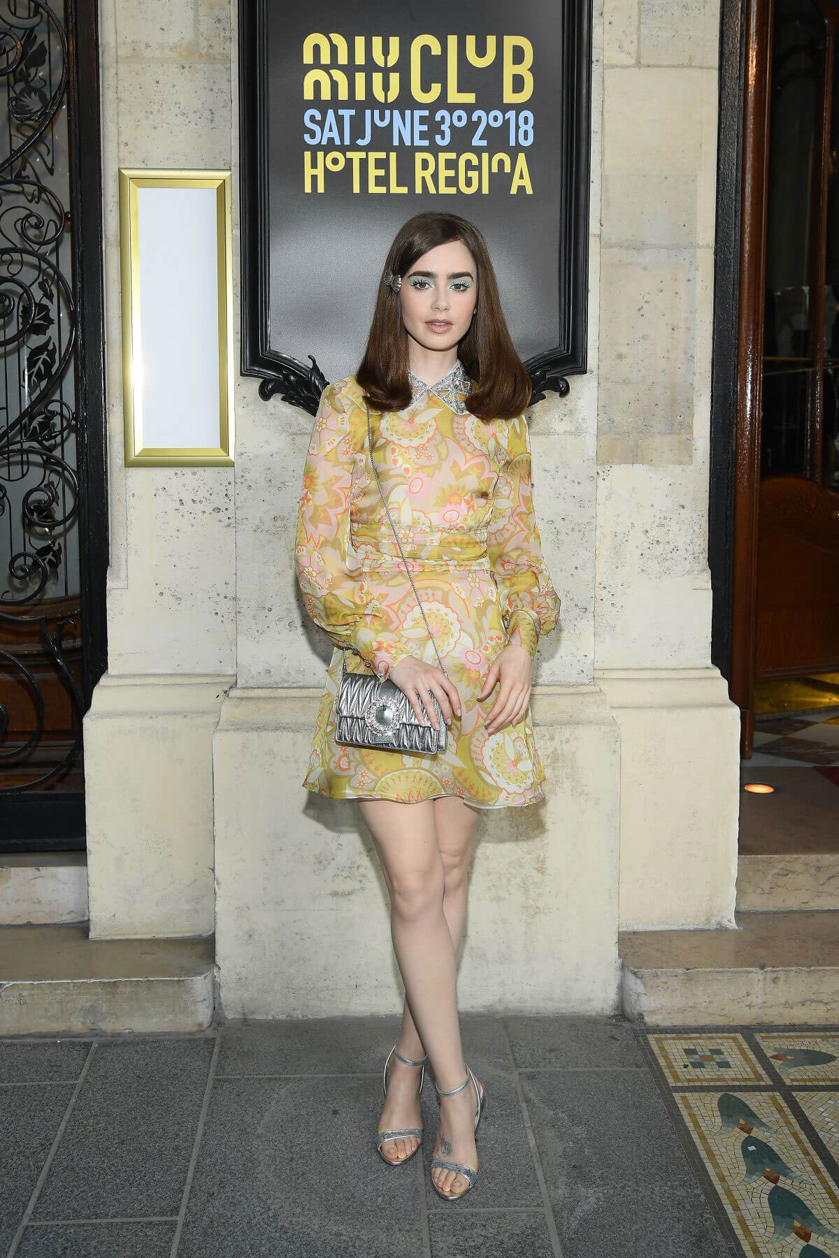 Lily Collins at Miu Miu 2019 Cruise Collection Show in Paris 2018/06/30 1