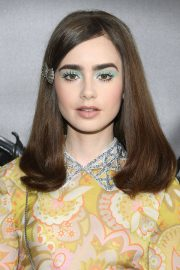 Lily Collins at Miu Miu 2019 Cruise Collection Show in Paris 2018/06/30 2