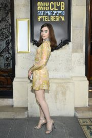 Lily Collins at Miu Miu 2019 Cruise Collection Show in Paris 2018/06/30 4