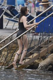 Lily Collins in Swimsuit at Hotel Regina Isabella in Ischia 2018/07/16 9