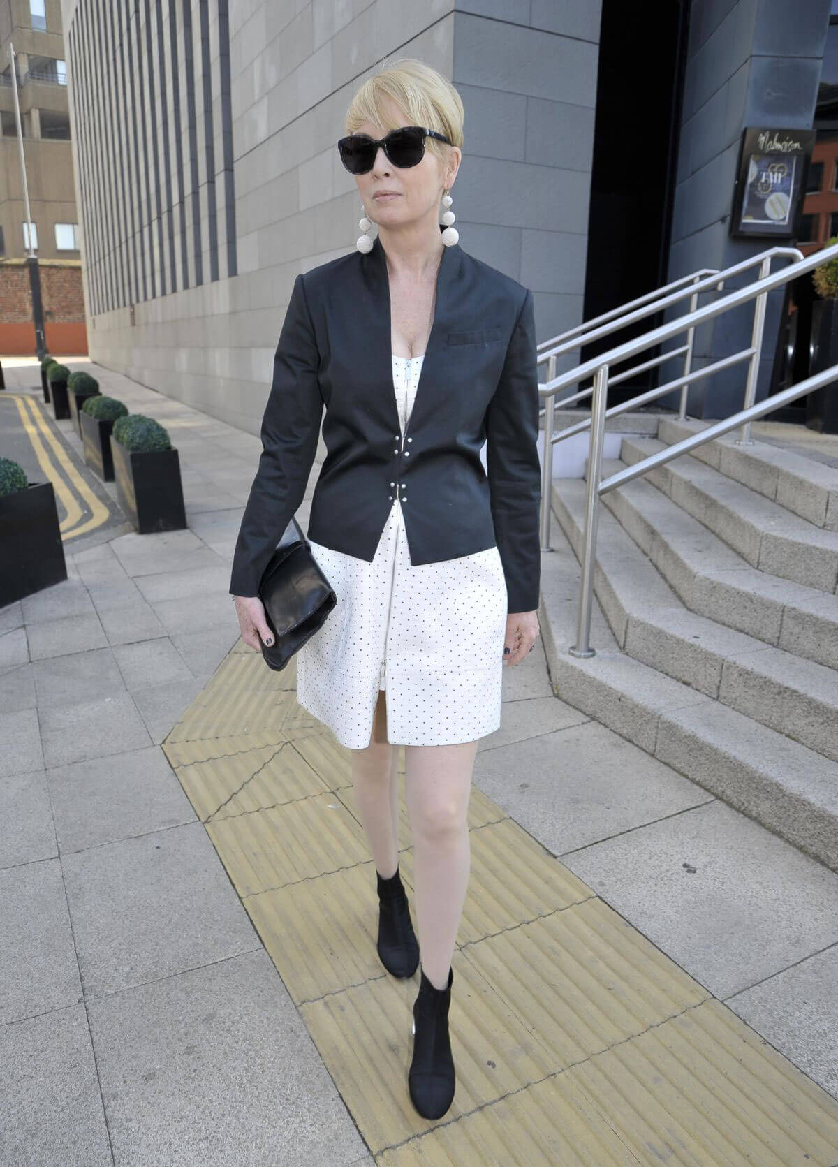 Lysette Anthony Arrives Jennifer Metcalfes Baby Christening in Liverpool 2018/05/20 1