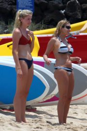 Mason and Camille Grammer in Bikinis on the Beach in Hawaii 2018/07/04 3