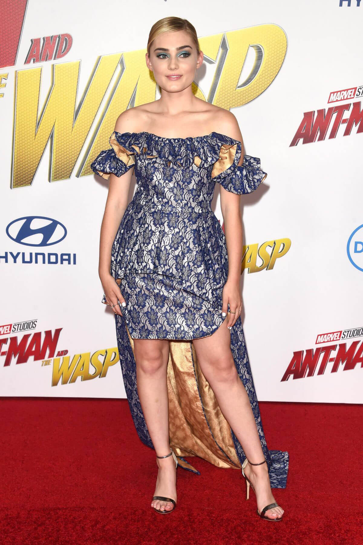 Meg Donnelly at Ant-man and the Wasp Premiere in Los Angeles 2018/06/25 1