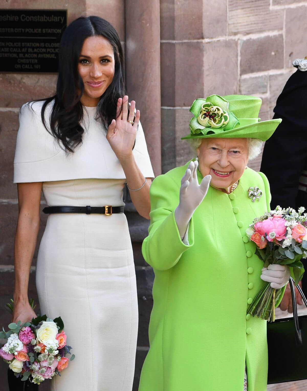 Meghan Markle and Queen Elizabeth II at Chester 2018/06/14 1
