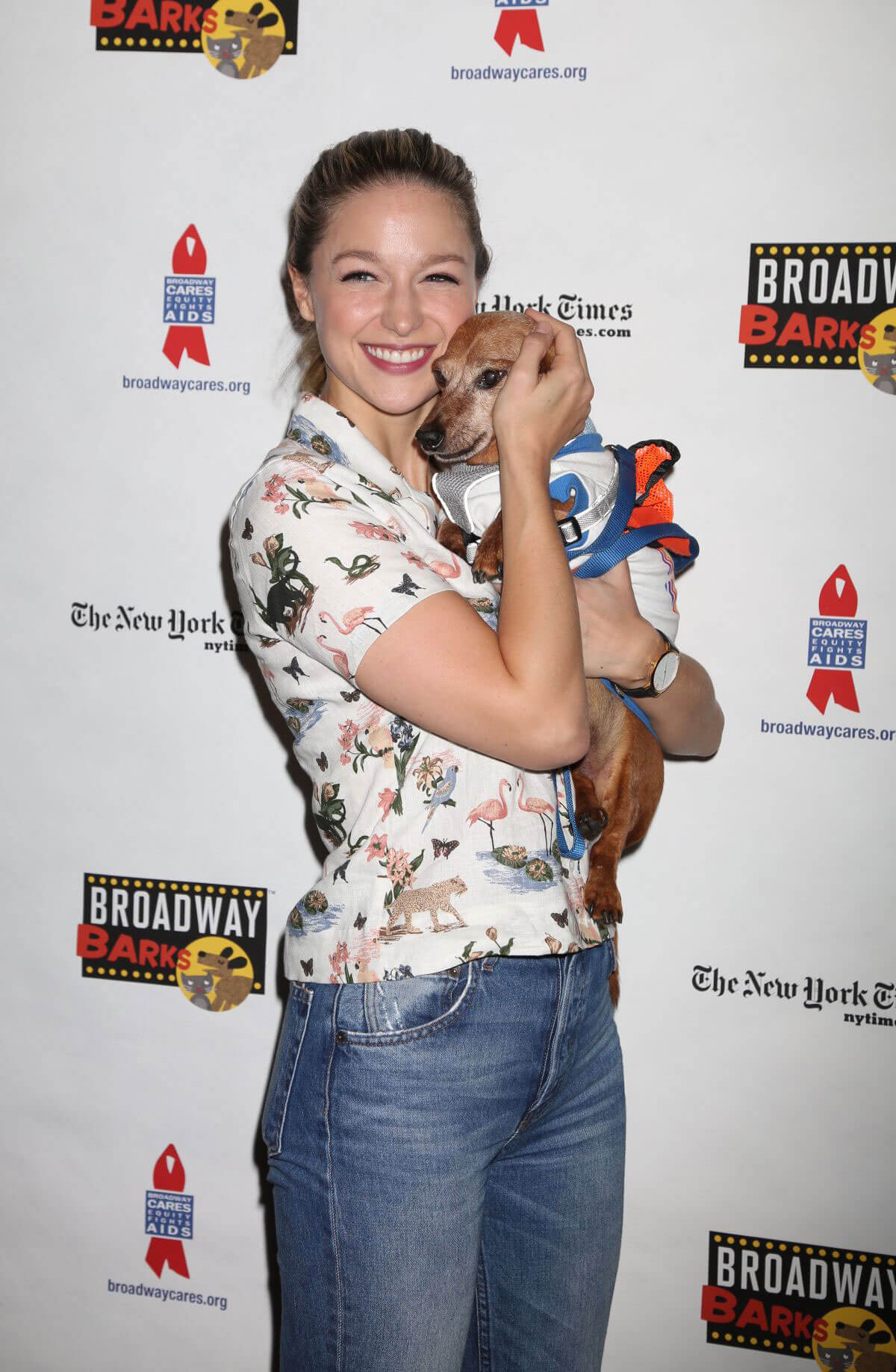 Melissa Benoist at 20th Annual Broadway Barks Animal Adoption Event in New York 2018/07/14 1