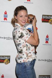 Melissa Benoist at 20th Annual Broadway Barks Animal Adoption Event in New York 2018/07/14 10