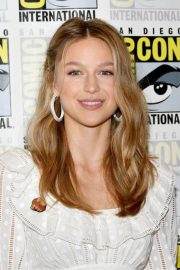 Melissa Benoist at Supergirl Press Line at Comic-con in San Diego 2018/07/21 11