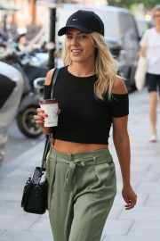 Mollie King Arrives at BBC Radio One in London 2018/07/13 2