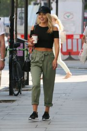 Mollie King Arrives at BBC Radio One in London 2018/07/13 3