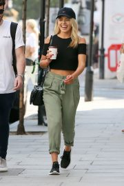 Mollie King Arrives at BBC Radio One in London 2018/07/13 11