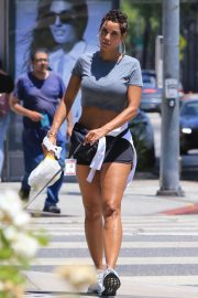Nicole Murphy in Shorts Out with Her Dog in Beverly Hills 2018/07/21 2