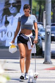 Nicole Murphy in Shorts Out with Her Dog in Beverly Hills 2018/07/21 10