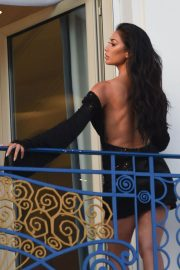 Nicole Scherzinger on the Set of a Photoshoot in Cannes 2018/05/16 2