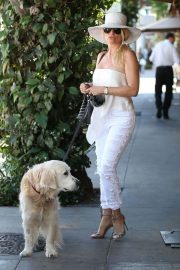 Nicollette Sheridan Out for Lunch at Il Pastaio in Beverly Hills 2018/06/27 10