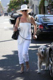 Nicollette Sheridan Out for Lunch at Il Pastaio in Beverly Hills 2018/06/27 11