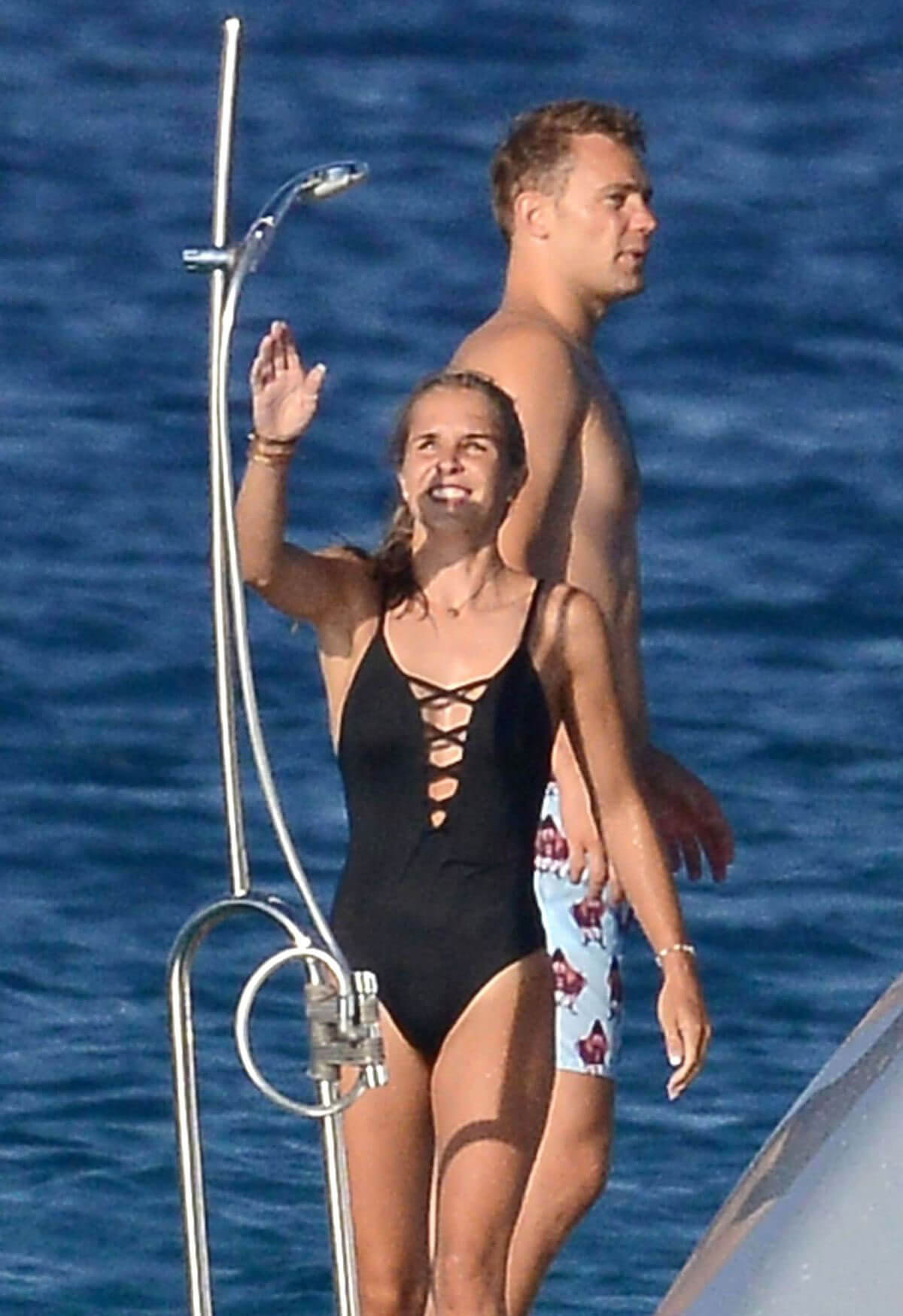Nina Neuer in Swimsuit on Holiday in Formentera 2018/07/16 1
