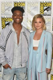 Olivia Holt at Cloak & Dagger Press Line at Comic-con in San Diego 2018/07/21 6