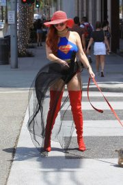 Phoebe Price in Superwoman Costume Out in Beverly Hills 2018/07/16 1
