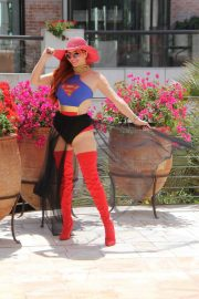 Phoebe Price in Superwoman Costume Out in Beverly Hills 2018/07/16 5