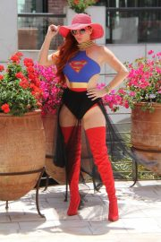 Phoebe Price in Superwoman Costume Out in Beverly Hills 2018/07/16 7