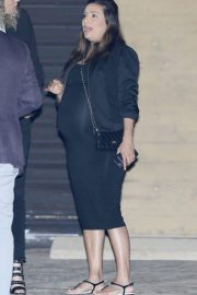 Pregnant  Eva Longoria Out for Dinner at Nobu in Los Angeles 2018/05/19 2