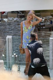 Romee Strijd Out for Lunch at Amante Beach Club in Ibiza 2018/06/29 9