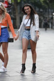 Rosie Williams in Denim Shorts Out in London 2018/06/28 7