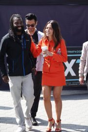 Sarah Shahi on the Set of Extra in Los Angeles 2018/05/29 10