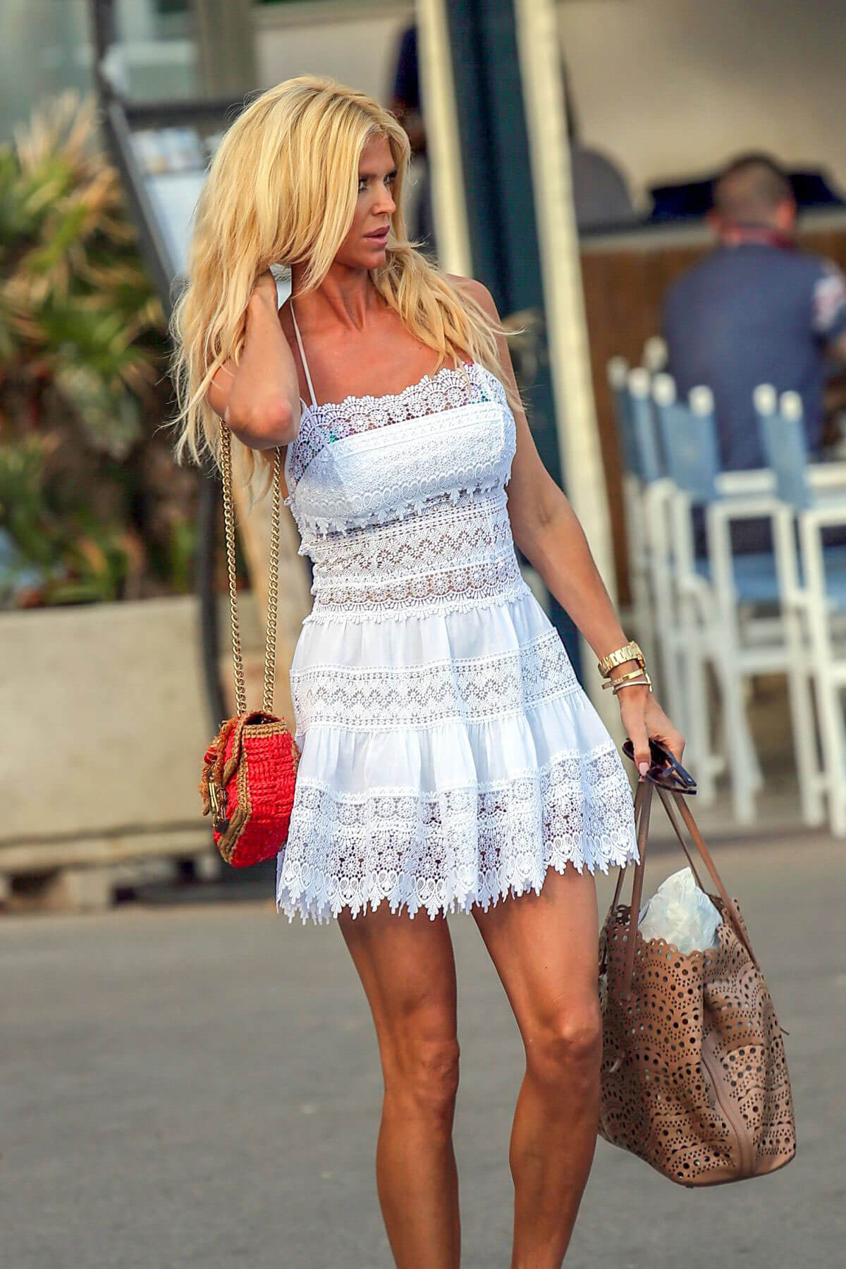 Victoria Silvstedt at Club 55 in Saint Tropez 2018/06/16 1