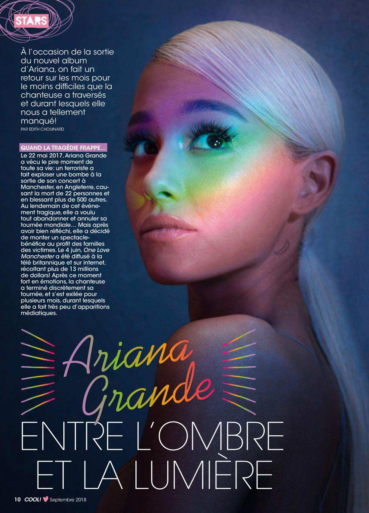 ARIANA GRANDE in Cool Magazine, Canada September 2018 1