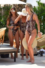 Billie Faiers and Sam Faiers and Ferne McCann in Swimsuits at a Beach in Ibiza 2018/08/23 1