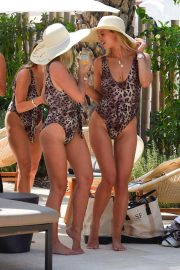 Billie Faiers and Sam Faiers and Ferne McCann in Swimsuits at a Beach in Ibiza 2018/08/23 2
