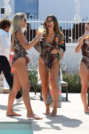 Billie Faiers and Sam Faiers and Ferne McCann in Swimsuits at a Beach in Ibiza 2018/08/23 10