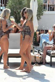 Billie Faiers and Sam Faiers and Ferne McCann in Swimsuits at a Beach in Ibiza 2018/08/23 11