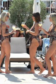 Billie Faiers and Sam Faiers and Ferne McCann in Swimsuits at a Beach in Ibiza 2018/08/23 12