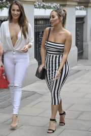 Chloe and Lauryn Goodman at Rosso Restaurant in Manchester 2018/08/13 6