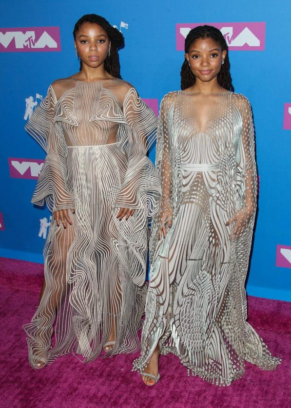 Chloe Bailey and Halle Bailey at MTV Video Music Awards in New York 2018/08/20 1