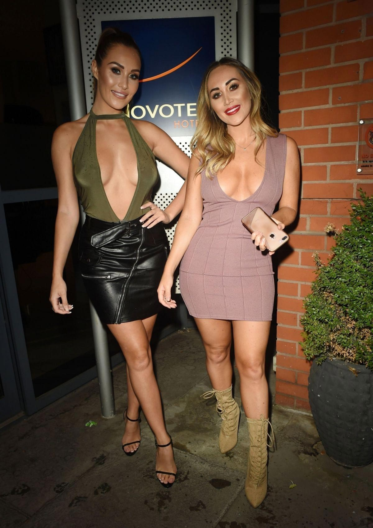 Chloe Goodman and Lauryn Goodman at Novotel Hotel in Manchester 2018/08/20 1