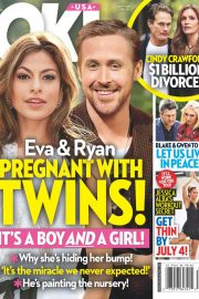 Eva Mendes and Ryan Gosling in Ok! Magazine, July 2018 Issue 5