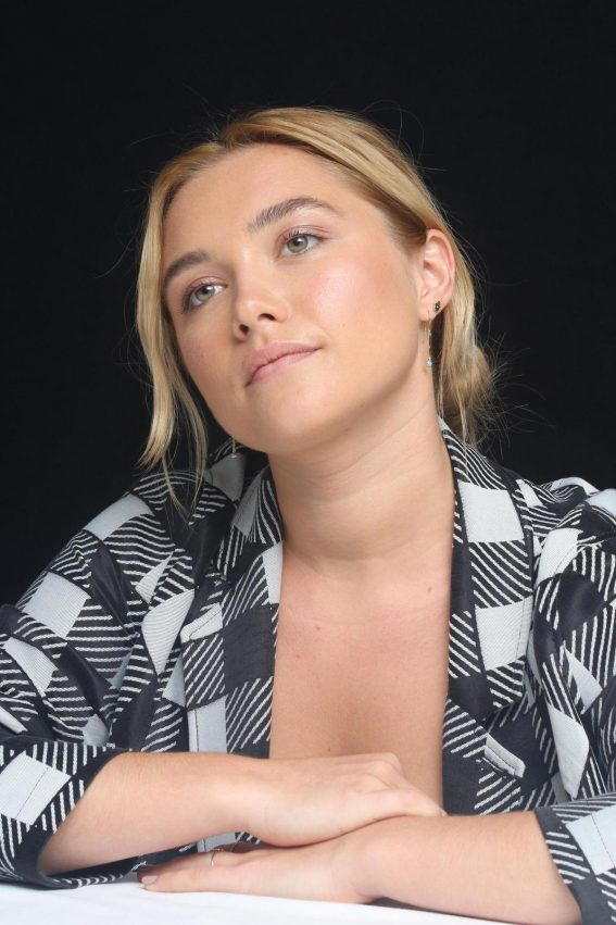 Florence Pugh at The Little Drummer Girl Press Conference in Los Angeles 2018/08/01 1