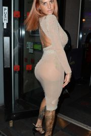 Jemma Lucy Arrives at Sakana on Peter Street in Manchester 2018/08/18 5