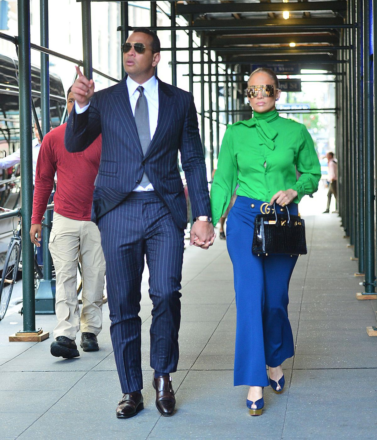 Jennifer Lopez and Alex Rodriguez Out in New York 2018/08/14 1