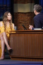 Jessica Biel at Late Night with Seth Meyers in New York 2018/08/16 2