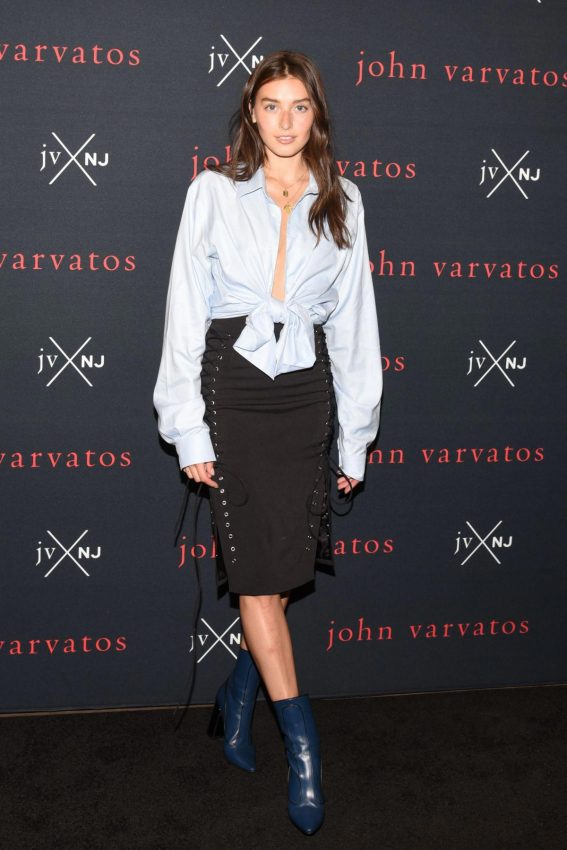 Jessica Clements at JVxNJ John Varvatos and Nick Jonas Fragrance Launch in New York 2018/08/08 1