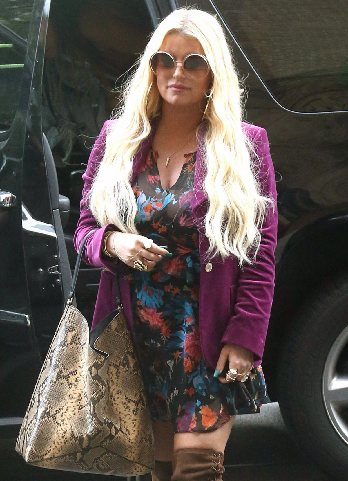 Jessica Simpson Leaves Her Hotel in New York 2018/08/12 1