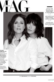 Julianne Moore and Isabelle Adjani in Madame Figaro, France August 2018 1