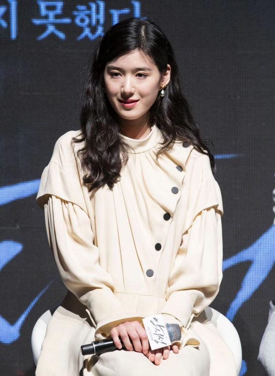 Jung Eun-chae at The Great Battle Press Conference in Seoul 2018/08/21 1