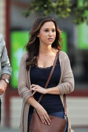 Lacey Chabert on the Set of All of My Heart: The Wedding in Vancouver 2018/08/12 1